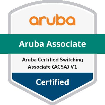 Απόκτηση πιστοποίησης Aruba Certified Switching Associate.
